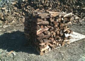 Solano firewood Almond half cord stacked